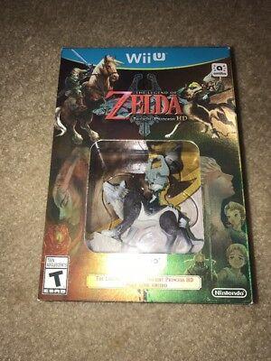 The Legend of Zelda Twilight Princess HD Nintendo WII U Game w/ WOLF LINK AMIIBO, usado comprar usado  Enviando para Brazil
