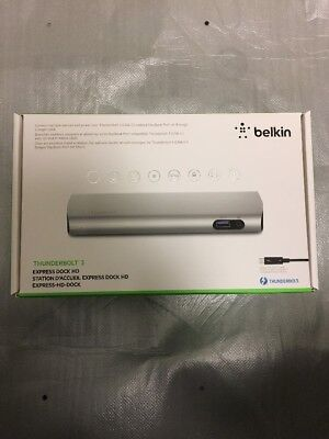 Belkin Thunderbolt 3 Express Dock HD (F4U095) - Brand New Sealed -