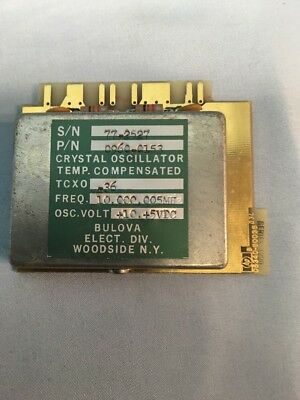 Hp 05340-60036 10mhz Temperature Controlled Oscillator Plug In Module For 5340a