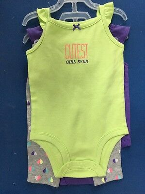 ADORABLE INFANT GIRL 'CARTER'S' 3-PC OUTFIT 'CUTEST GIRL EVER' 2 SZS AVAIL NWT