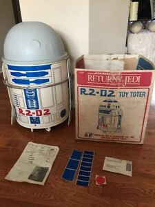 Star Wars R2-D2 Toy Toter (1983 Toy Box) Open Box, Looks Unused Near Complete