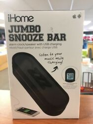 iHome IM14BC Jumbo Snooze Bar Alarm Clock with USB Charging