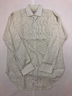 Men's Dunhill Striped French Cuff Shirt Sz 15 3/4 R Made in England