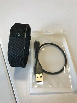Fitbit Charge HR Large BLACK Sleep Activity Heart Rate Monitor #124