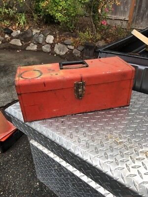 Red Kennedy Toolbox KK19 Working Industrial Storage MCM Decor Redskins Ice Chest for sale  Tacoma