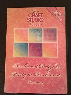 My Craft Studio Elite Parchment Delights Pretty In Parchment Vol 8 CD-ROM Double