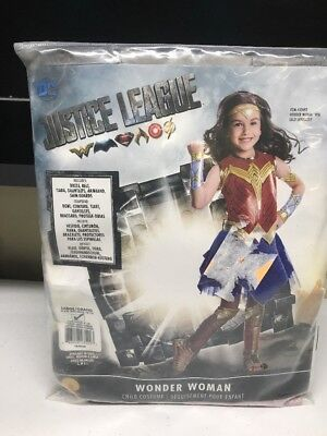 Justice League Costumes For Girls (Justice League Girls Deluxe Wonder Woman Superhero Child Halloween Costume)