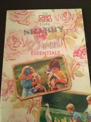 My Craft Studio Elite Shabby Sweet Essentials' CD Rom Cute Kids Adorable Animals