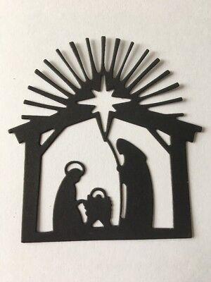 12 X Nativity Scene Silhouette Die Cuts Toppers/Card Making
