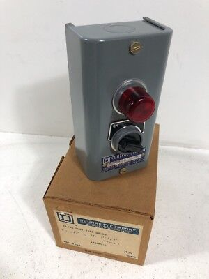 New Vintage Square D 9001gg20 Onoff Switch Control Station 9001 Gg-20
