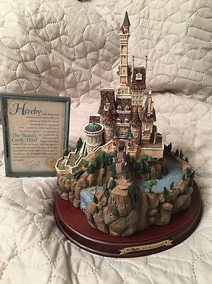 Disney WDCC BEAUTY and The BEAST CASTLE - Enchanted Places Coa