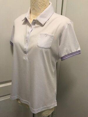 bf80aa9d Women's PING Golf Sensor cool White Golf Top Shirt w/Pocket Short Slv 10