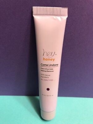 Hey Honey Come Undone Face & Eye Daily Makeup Remover Natural 12mL Sample SEALED