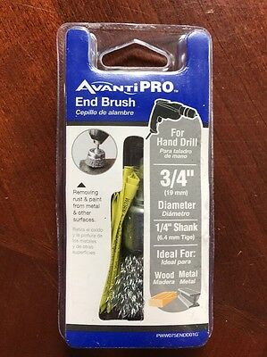 Avanti Pro End Brush 34 Diameter 14 Shank Silver 0-10-12