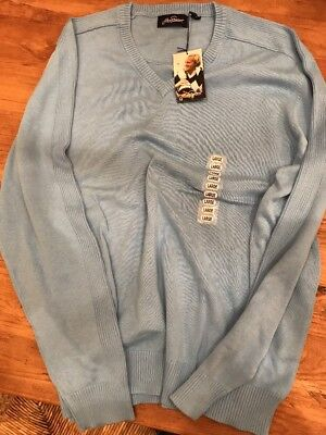 NWT Jack Nicklaus Men's Golf Sweater Blue large v-neck Golfing