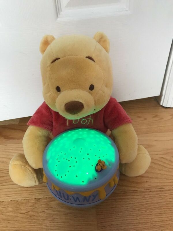 Disney Winnie Pooh Dreamy Stars Baby Soother Plush Nightlight Baby Room Relaxing