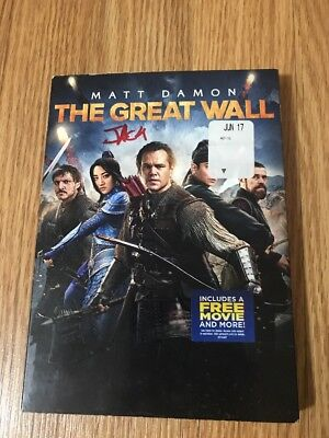 The Great Wall  Dvd  2017  W Slipcover Free Shipping