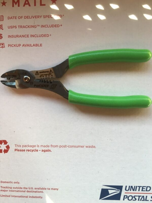 """Snap-on Wire Cutter, Stripper And Crimper Pliers.  """"Extreme Green"""" Color"""