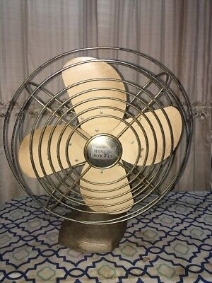 Vintage Manning Bowman Table Electric Fan Model #51 -WORKS