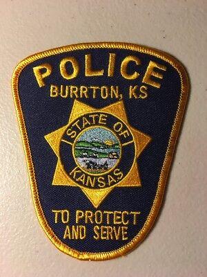 Burrton Kansas Police Department Patch Ks