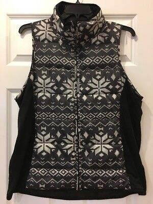 NWOT WESTBOUND Zip Front Gray Cream Black Puffer Vest Size XL Extra Large