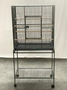 160cm Bird Cage Parrot Aviary Stand-alone Budgie Castor Wheels