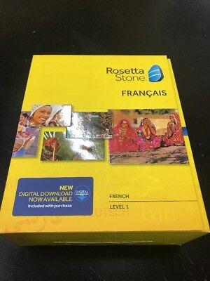 Rosetta Stone Francais Level 1 French Version 4  Please Read Description