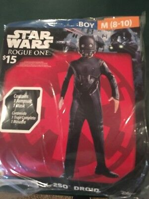 Halloween Costume Boys Star Wars K-2SO Droid Medium 8-10 New](Droid Costume)