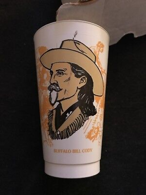 BUFFALO BILL CODY Slurpee NATIVE AMERICAN Indian Chief WESTERN Cup 7-11 Mancave