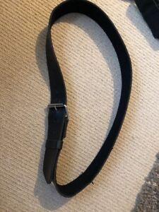 Ex Police Black Leather 50mm Kit Belt. Medium. Used. 766