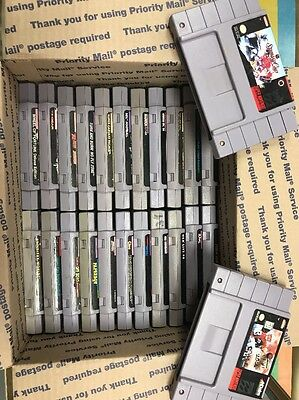 LOT OF 24 USED SUPER NINTENDO SNES GAMES