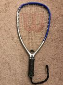 WILSON ROLLERS 195 Racquetball Racquet WITH PADDED CASE & NEW GRIP