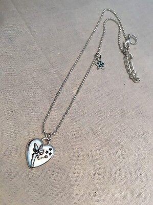 Tinkerbell Heart Charm - Disney Tinkerbell Heart Pendant Green Crystal Star Charm Necklace
