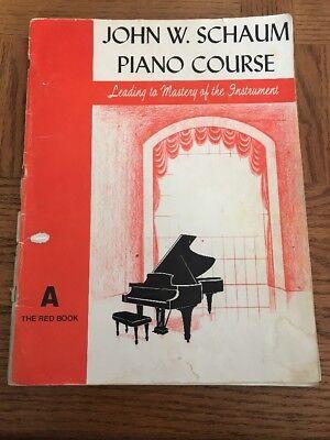 John W. Schaum Piano Course The Red Book