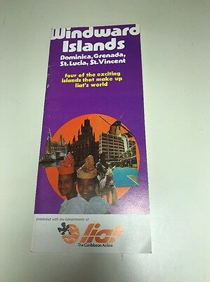 Liat Airlines Caribbean Windward Islands Brochure Dominica Grenada St Lucia