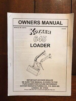 Koyker 645 Loader Owners Manual 659718 81808