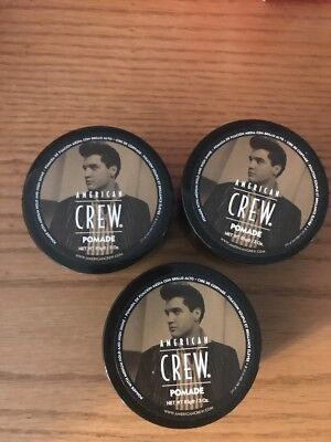 3  American Crew Pomade 3 Oz Each Pack Of 3