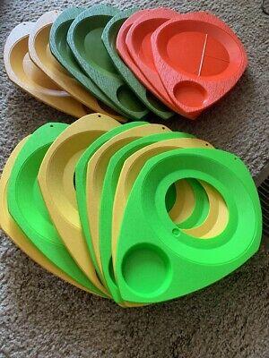 Colored Plastic Plates Wholesale (Set of 16 Vintage WILPAK No. 1000 Plastic Picnic Plate Cup Holders)
