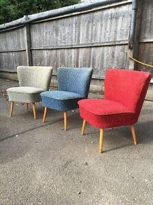 Original Pair Bartholomew Vintage Retro Mid Century Tub Cocktail Chair 50'/60s