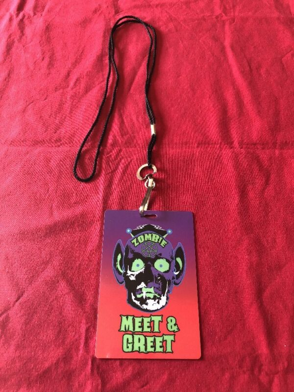 Rob Zombie 2016 Tour VIP MEET AND GREET metal pass lanyard