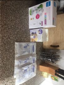 MAM breast pump and storage bagsz