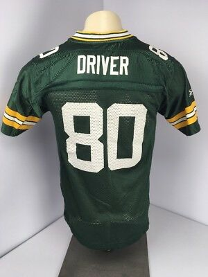 ddf31a8a8a4 REEBOK NFL GREEN BAY PACKERS DONALD DRIVER GREEN MESH JERSEY YOUTH LARGE  (14-16