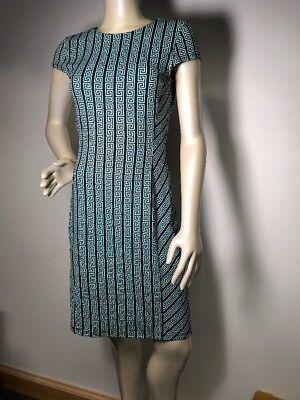 J McLaughlin mint green & black greek key Catalina Cloth Dress, Size XS Bin-H - Green Greek Dress