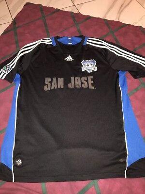 2008 MLS Adidas San Jose Earthquakes Soccer Jersey Pro Team Edition Xl Mens image