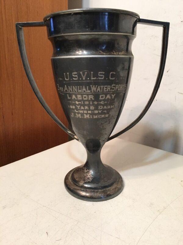 Scarce US Volunteer Lifesaving Corps Life Saving Trophy Cup 1914
