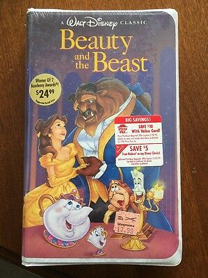 Beauty and the Beast (VHS, 1992, Black Diamond Edition) FACTORY SEALED