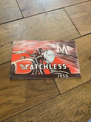 1950 Matchless Motorcycle Sales Catalogue G3 LS G3 350 500  G80 Clubman Etc
