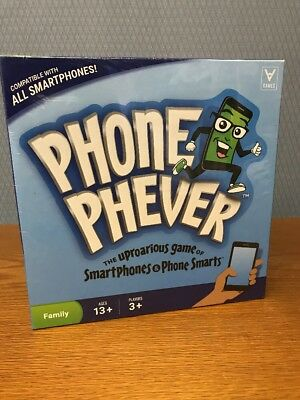 Phone Phever Board Game Best New Fun Fast-Paced Family-Friendly Party Sealed