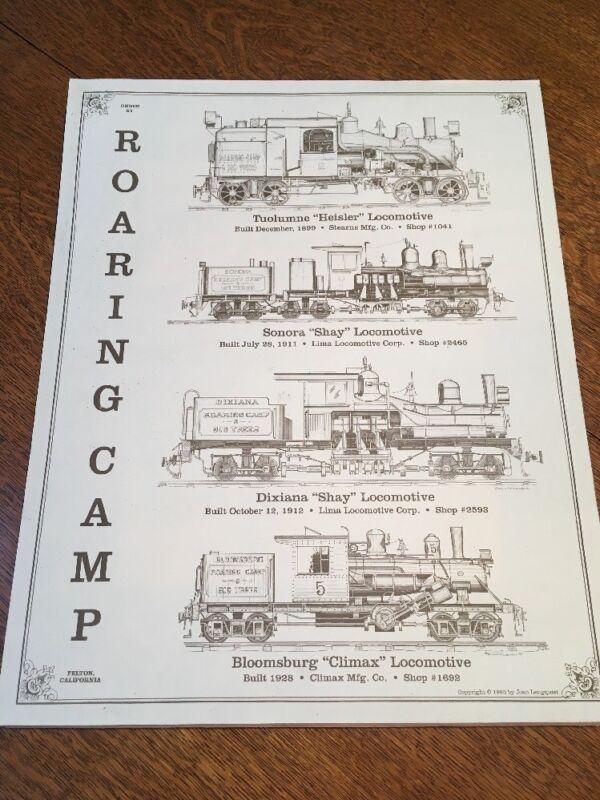 "16""x20"" Poster Of 4 Vintage Locomotive Train Prints Railroad Posters."