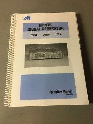 Ifr 2023a 2023b 2025 Amfm Signal Generator Operating Manual